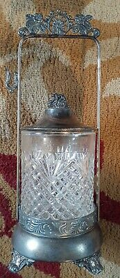 Vintage Ornate Victorian Silver Plated Sugar Caddy