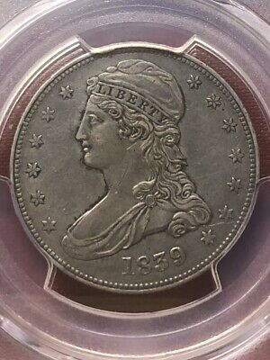 1839 Capped Bust Half Dollar 50C - PCGS AU Details  - Rare Certified Coin!