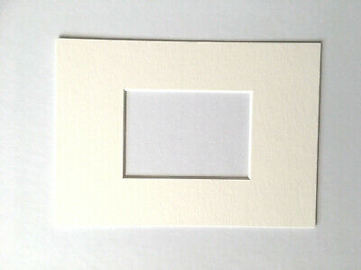 "Off-White Card Mount for ACEO paintings or prints (to fit 7"" x 5"" frame)"