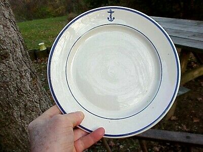 """Shenango Navy Wardroom Officer's Mess Hall FOULED ANCHOR 9¾"""" DINNER PLATE no. 1"""