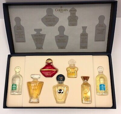 New GUERLAIN Paris Gift Set Perfume Cologne EDT 7 Bottles Shalimar Mitsouko More