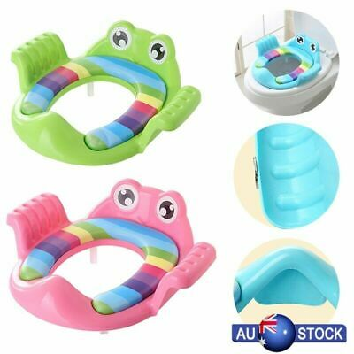 Baby Kids Handle Potty Training Seat Toilet Soft Cushion Trainer for Boys Girls