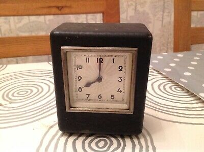 Vintage 1930's  MONEY BOX CLOCK GERMAN WINDS And WORKS