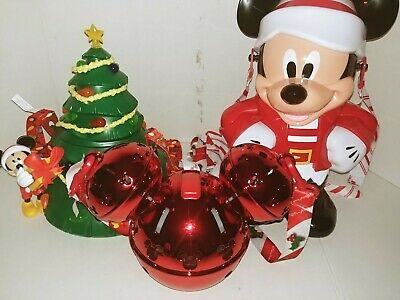 Disney Light Up Christmas Tree Mickey Popcorn Bucket Bell Sipper Sippy Cup