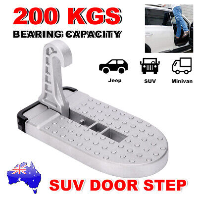 Folding Car Door Step Latch Hook Foot Pedal Ladder For Jeep SUV Truck Roof Rack