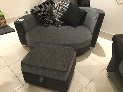 Dfs Used Sofa Set Charcoal Grey Two Seater Cuddle Chair