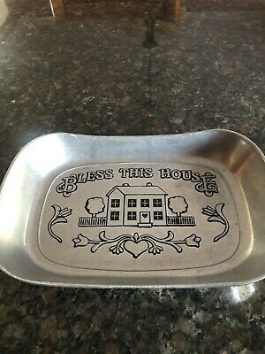 Wilton Armetale Bless This House Bread Tray New In Box