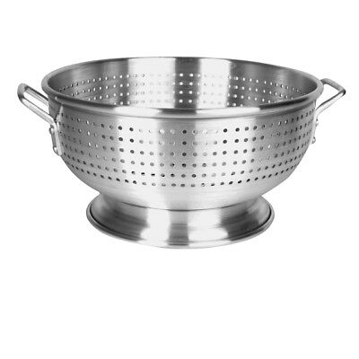 Thunder Group ALHDCO001, 8 Qt Aluminum Colander with Base and 2 Handles, Round