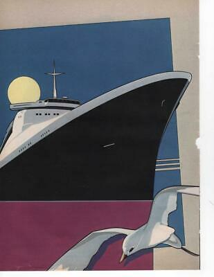 Pat Nagel Art Page Featuring Freighter With Seagull Illustration Page Frame It!