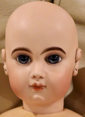 "23"" Antique E11J C1881 Bisque Bebe Jumeau Doll w/Original Mkd Straight Wr Body"