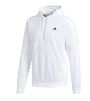 ADIDAS Mens Must Have Badge of Sport Hoodie Ultimate ClimateWarm Pullover White
