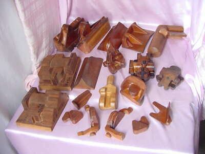Vintage Collection Group Lot Old Hand Made Wood Foundry Molds