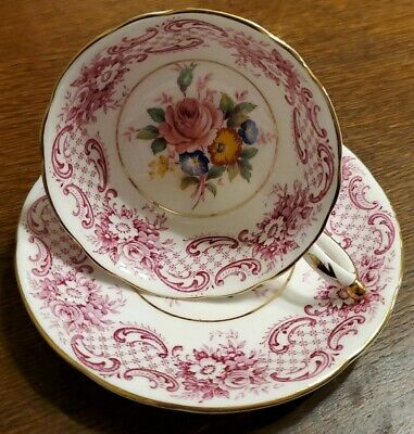Paragon Roses And Pink Scallop Cup And Saucer Double Warrant