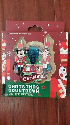 New Disney Parks Christmas 2019 Countdown Pin LE 3000 Mickey/Goofy Toy Soldiers