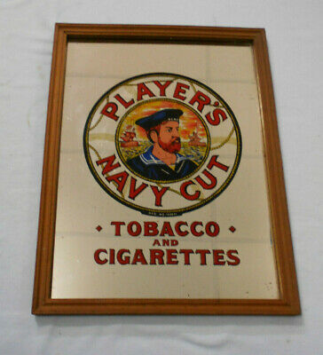 #Mm.     Framed  Players Navy Cut  Tobacco & Cigarette Advertisment