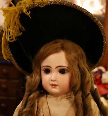 "22"" Antique C1880 Bisque CM Bebe Jumeau Doll W/Original Outfit Signed Shoes"