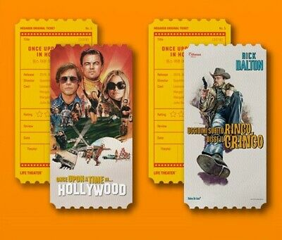 Once Upon A Time In HOLLYWOOD Korea MegaBox Original Limited Movie Cinema Ticket