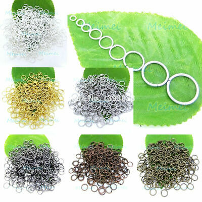 100 Split Rings Silver Key Open Jump Ring Jewelry Making findings Craft 4~12mm