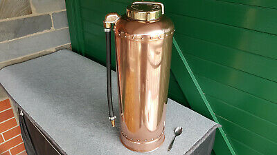 Vintage Fire Extinguisher All Polished And Ready. One Of The Best. Look At It !
