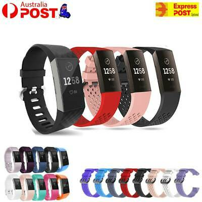For Fitbit Charge 3 Watch Band Strap Replacement Wristband Soft Silicone Bracele