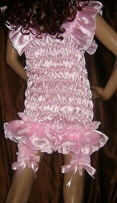 Prissy Sissy Maid CDTV Adult Baby All in One Teddy Playsuit with 4 Suspenders