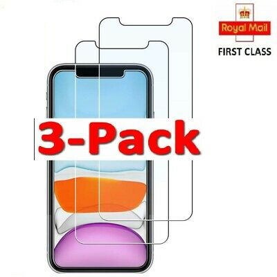 Tempered Glass Screen Protector for iPhone 11 Pro Max XS XR XS X 3 Pack