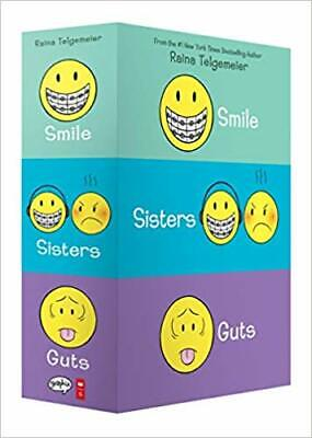 Smile, Sisters, and Guts: The Box Set PAPERBACK – 2019 by Raina Telgemeier