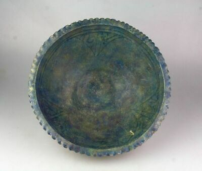 *Sc*Large & Choice Islamic Cobalt Pottery Kashan Bowl, Ca. 11Th. Century!