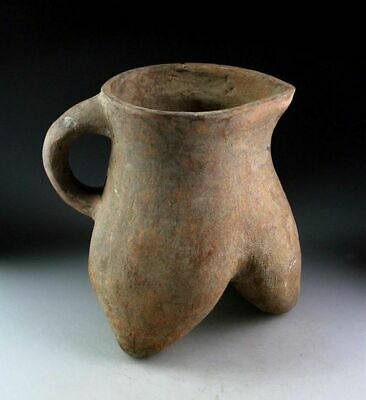 *Sc*Splendid Massive Chinese Neolithic Pottery Tripod Ever, 3Rd. Mill. Bc!