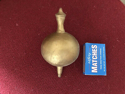 -------     Vintage Gold Painted Plaster Clock Finial      ---------