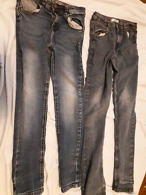 2x Boys Jeans 11-12 Years F&F M&Co