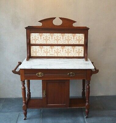 Antique Mahogany Washstand Sideboard Cupboard - Delivery Available
