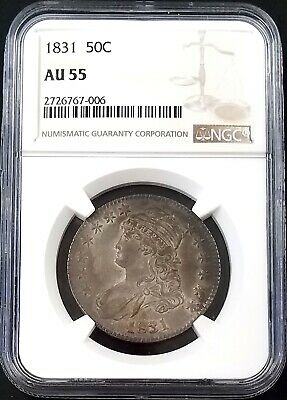 1831 Capped Bust Half Dollar certified AU 55 by NGC!