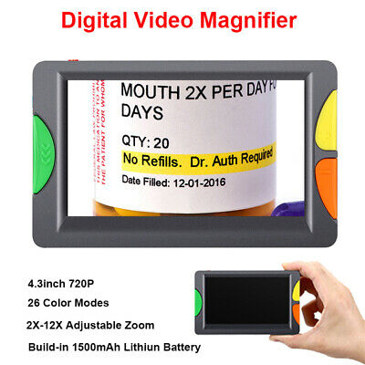 Portable Video Digital Magnifier TV Output 2x-12x for Low Visually Reading Help