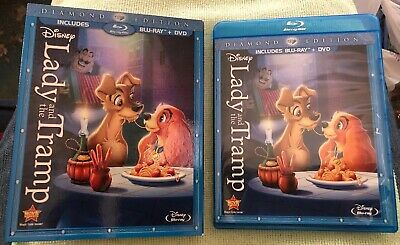 Lady and the Tramp (Blu-ray + DVD, 2012, 2-Disc Set Diamond Edition) + SLIPCOVER