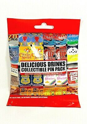 Disney Parks Delicious Drinks Soda Cans 5 Pin Mystery Set New
