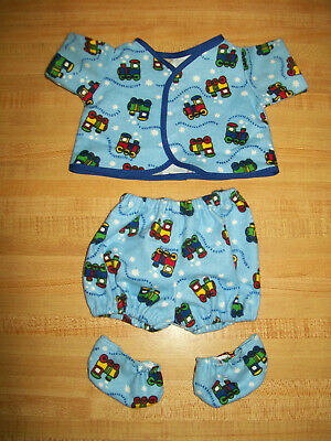 """PJs top+pants VALENTINE HEARTS for 14-15/"""" CPK Cabbage Patch Kids Preemie BBB bab"""