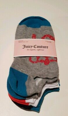 Juicy Couture socks liners - 3 pairs, size UK 4-10, NEW with TAGS