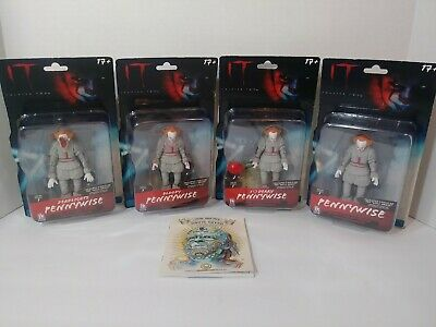 IT Chapter 2 Pennywise FIGURES Complete Set Lot Series 1,free mini movie book!