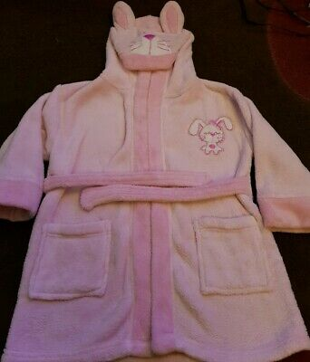 Dressing Gown Pink Girls Age 2-3