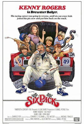 65532 Six Pack Movie Kenny Rogers, Diane Lane Decor Wall Print POSTER
