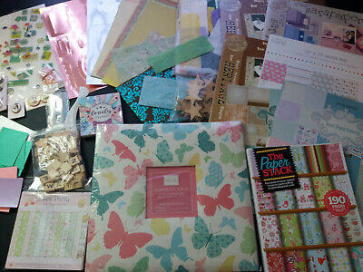 Large Scrapbook Bundle inc Scrapbook, Paper, Embelishments