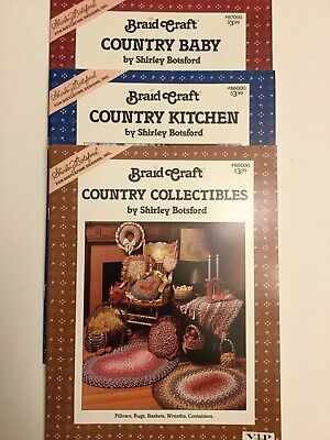 Braid Craft Country Collectibles, Country Kitchen & Country Baby Book Set - New!