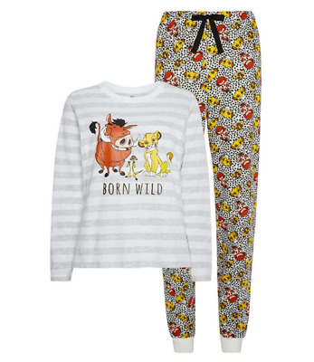 Primark Ladies Pyjamas DISNEY LION KING Women Girls Long Sleeve PJ Set 6 to 20
