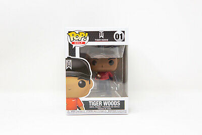 Funko Pop Tiger Woods Red Shirt #01 w/ Protector | IN STOCK | FAST SHIPPING!