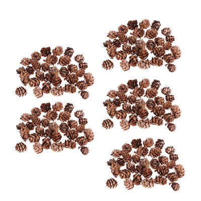 150 Pcs Mini Natural Dried Pine Cones for Christmas Tree Hanging Decorations