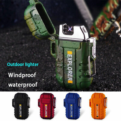 2019NEW Dual Arc Electric USB Lighter Rechargeable Windproof Flameless Cigarette