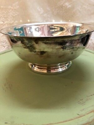 Vintage Gorham Silver Plated Footed Bowl - Paul Revere Style (6.5 inch Diameter)