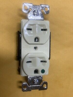 *NEW* Eagle Electric Ivory W-C-596, 15A, 250 V, Duplex Hospital Grade Rec 6-15R