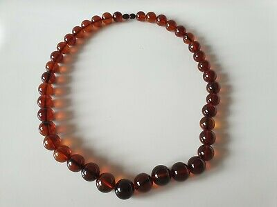 Bernsteinkette Baltic Amber Necklace Cherry Beads Balls